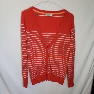Garage clothing Cardigan orange striped large